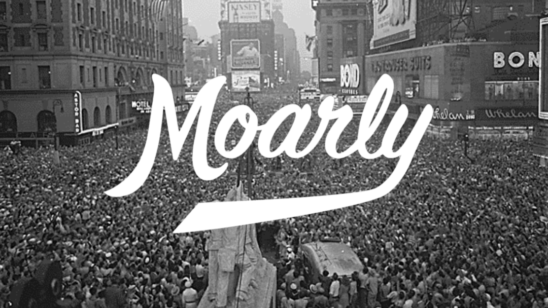 V-J Day and the Moarly Creative Logo